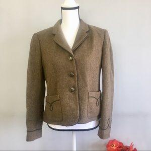 Ralph Lauren herringbone wool blend blazer